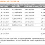 Vergütung bei content.de