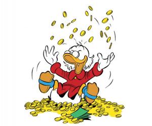 Wie wird man reich? Dagobert Duck, wie reichste Ente der Welt, weiß es genau