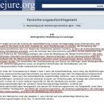 §89 VAGVersicherungsaufsichtsgesetz