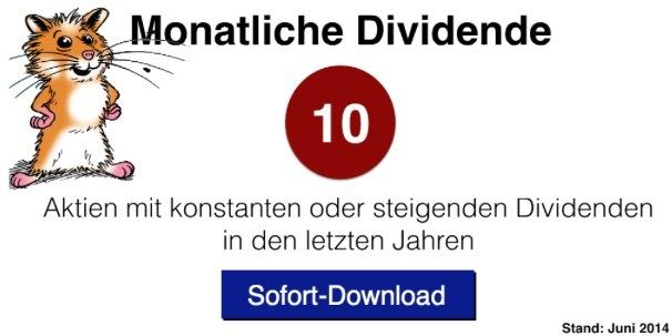 """eBook """"dividendenstarke Aktien"""""""