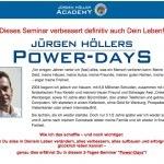 Jürgen Höller Gewinnspiel: gewinne ein Silber-Ticket für die Power Days