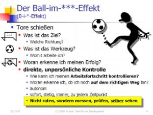 Vera F. Birkenbihls Ball-im-Tor-Effekt