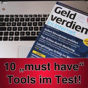 """Online Geld verdienen - Review: wir haben 10 """"Must have"""" Tools für Euch getestet"""